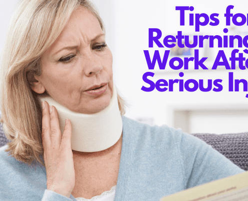 Tips for Returning to Work After a Serious Injury