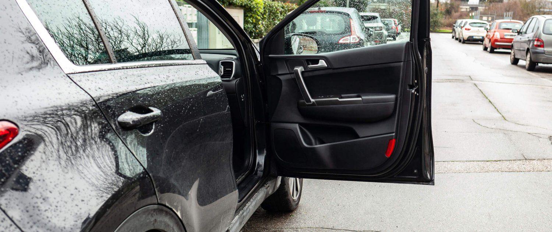 open car door is at risk of being hit in Florida