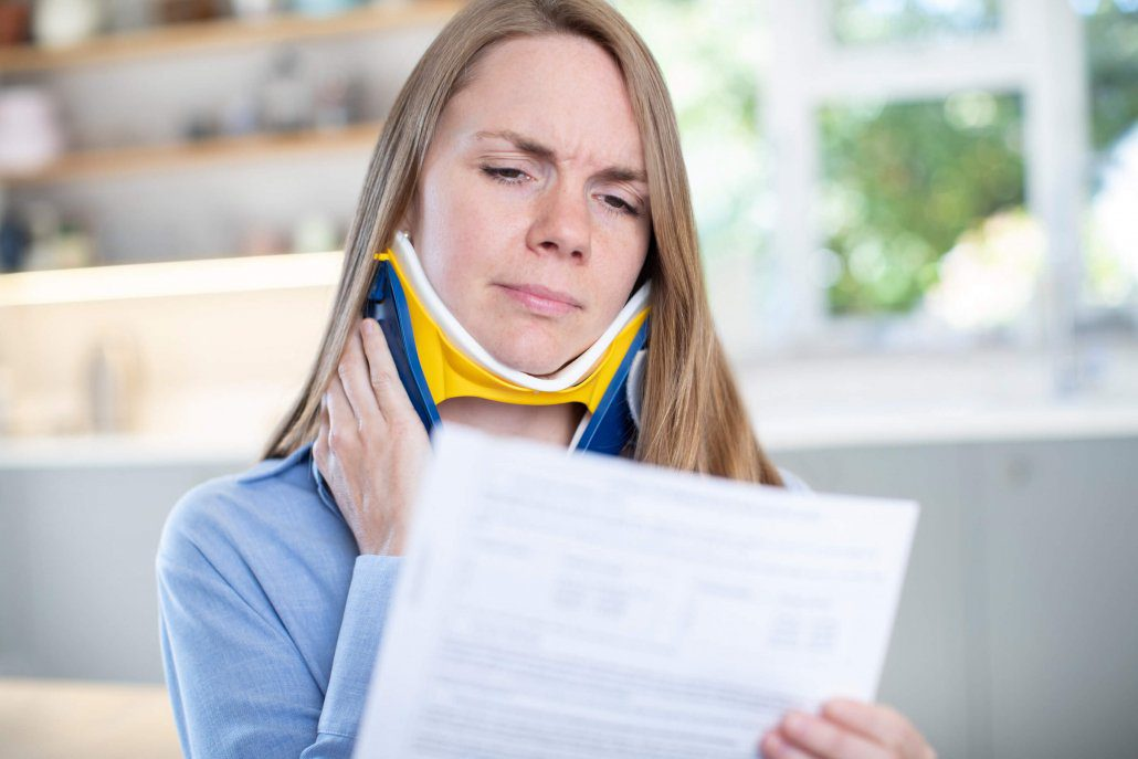 Woman gets expensive medical bill for neck injury after a head-on collision