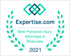 Badge awarded to best personal injury attorneys in Riverview 2021