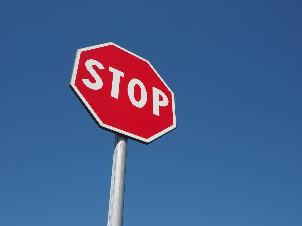Stop sign helps prevent car accidents in Florida
